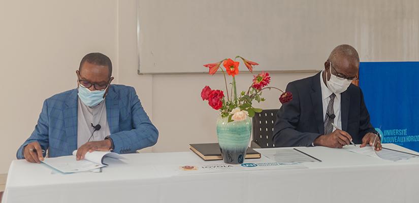 Signature d'un protocole d'accord de partenariat entre l'Université Nouveaux Horizons Et l'Université Loyola du Congo