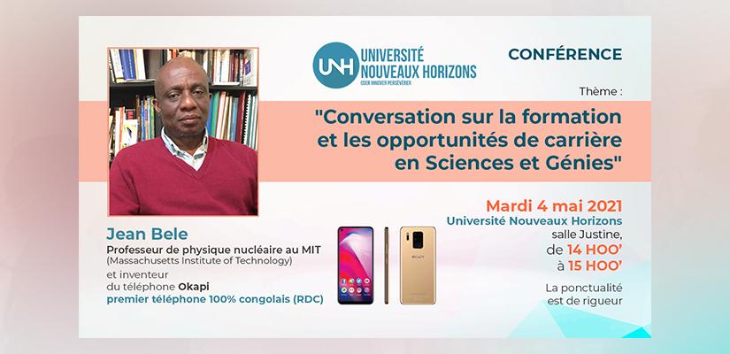 CONVERSATION SUR LA FORMATION ET LES OPPORTUNITES DE CARRIERE EN SCIENCES ET GENIES